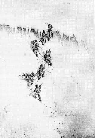 The first ascent of the Wetterhorn