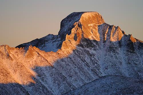 Longs Peak-A Winter Sunset
