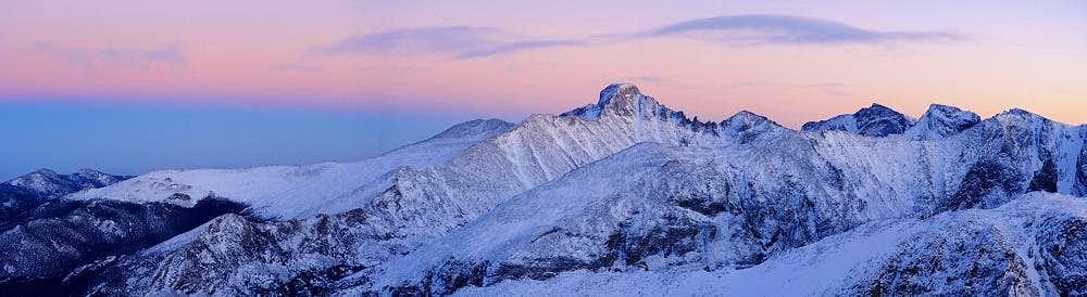 Hallett Peak-A Winter Sunset