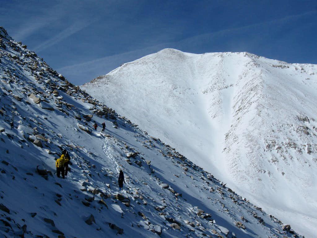Climbing Mount Princeton