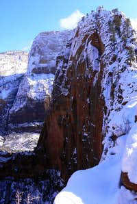 Snow Covered Angels Landing