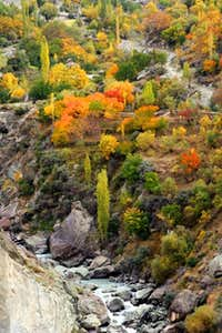 Autumn in Karimabad Hunza Pakistan.