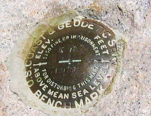 Mt. Whitney Benchmark (CA)