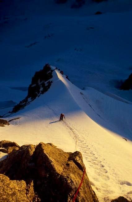 Alasdair Buchanan on the snow...