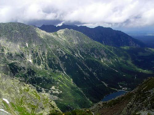 Miedziane and Opalony from Pod Chłopkiem Pass