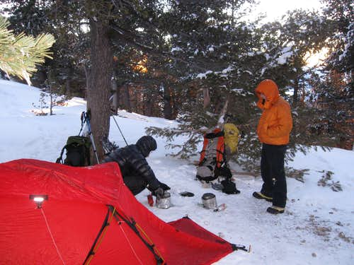 Camp at 10,980 feet