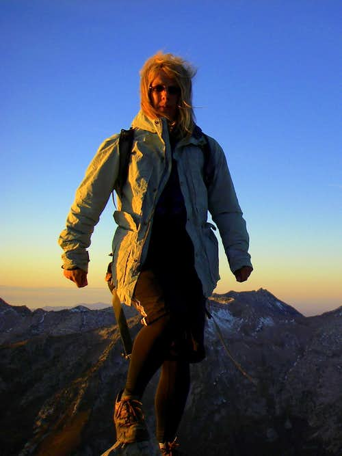 Standing on the summit of Box Elder just before sunset