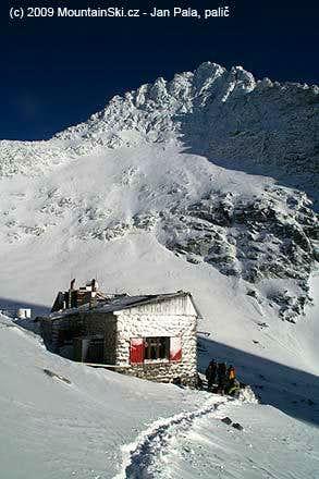 Chata pod Rysmi in December 2009