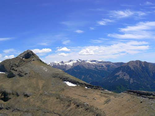 From Peak Comodoto, Cotiella in the distance