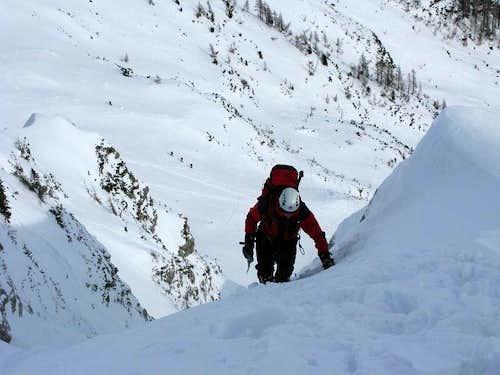 Climbing on Butinarjeva ravine