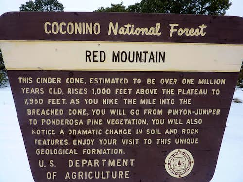 Red Mountain Trail Sign