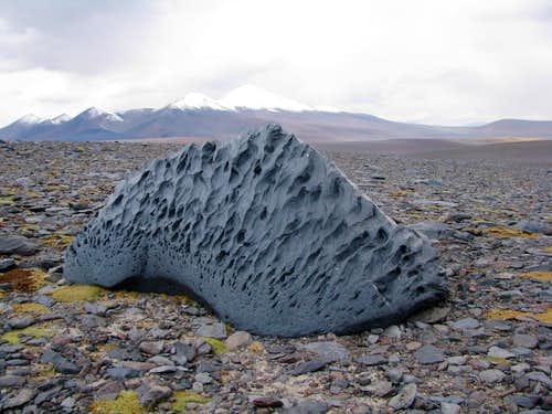 Sand blasted boulder