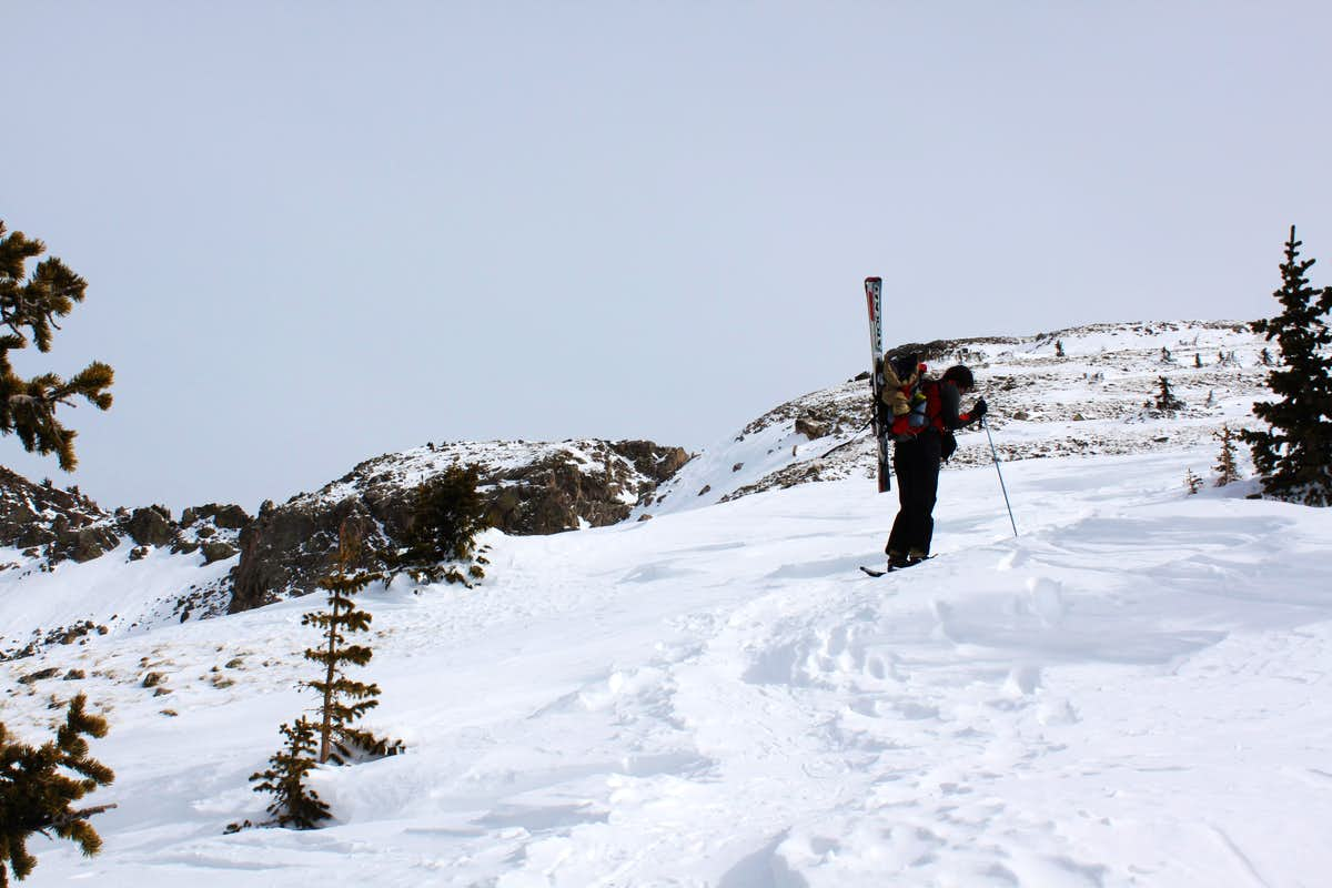 nearing the top of Deception Peak