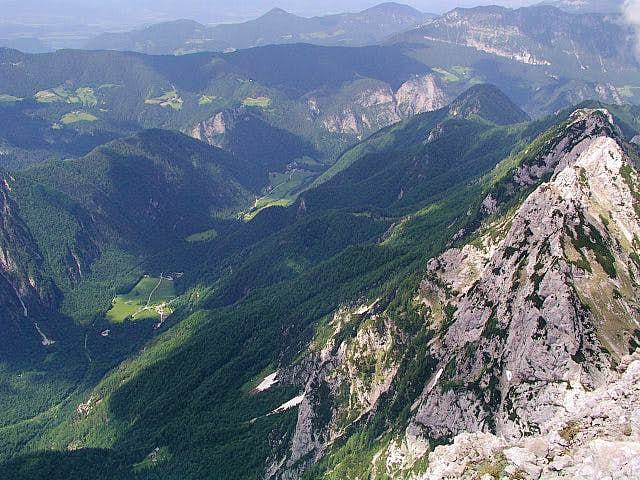 From the summit of Ojstrica....