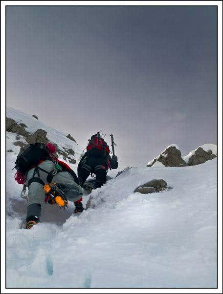 Climbing at Butinarjeva ravine