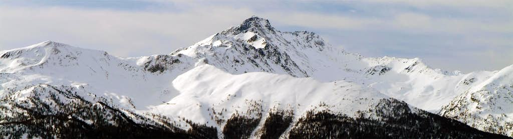 Chaligne Point and Mount Fallère