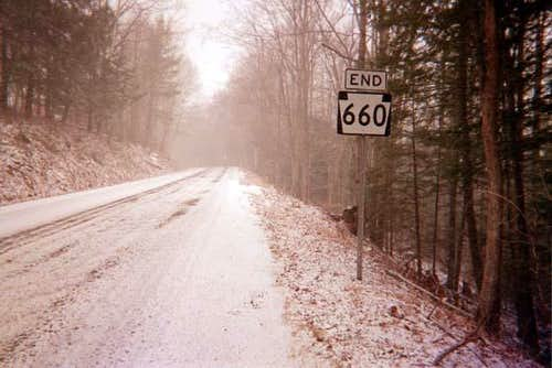 Route 660 with the first snow...