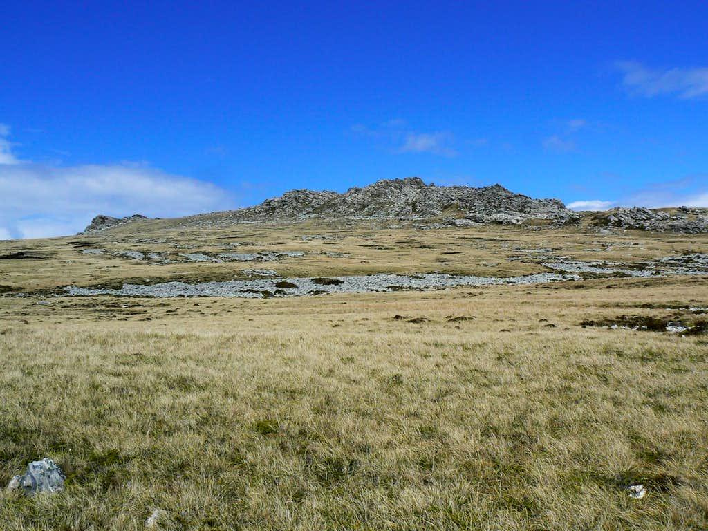 Approaching Mt Harriet
