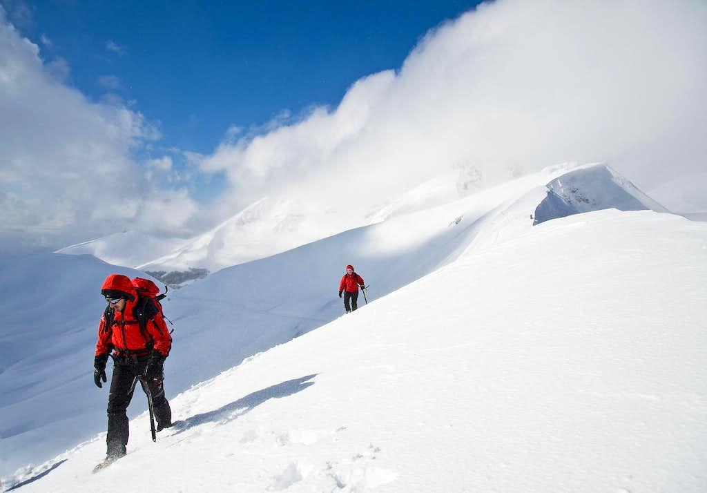 The ridge leading to M.Elefante