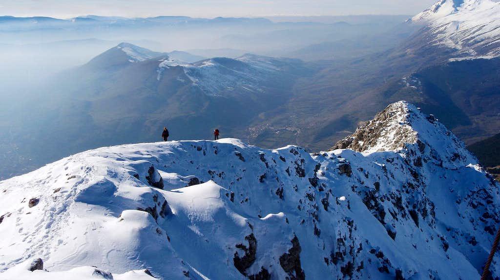 Serra di Celano west ridge Panorama
