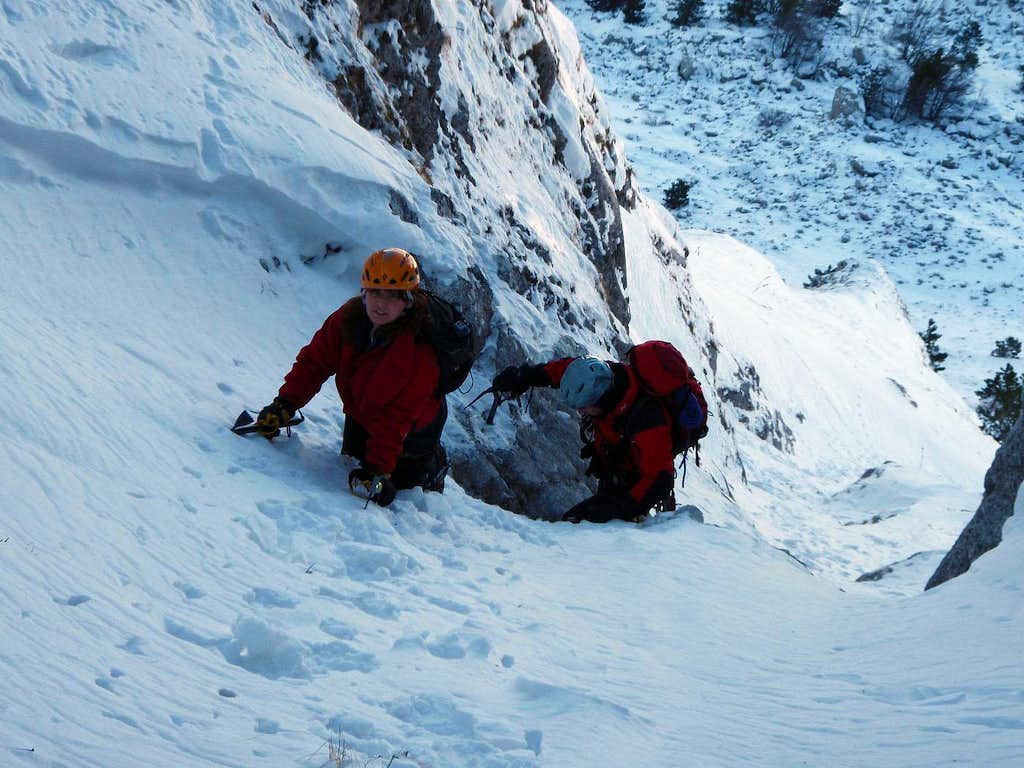 Serra di Celano: climbing the north gully