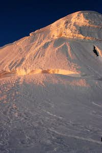 Tocllaraju Summit Bergschrund