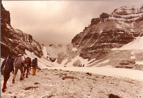 ACC ascent of Temple, Banff, 1979