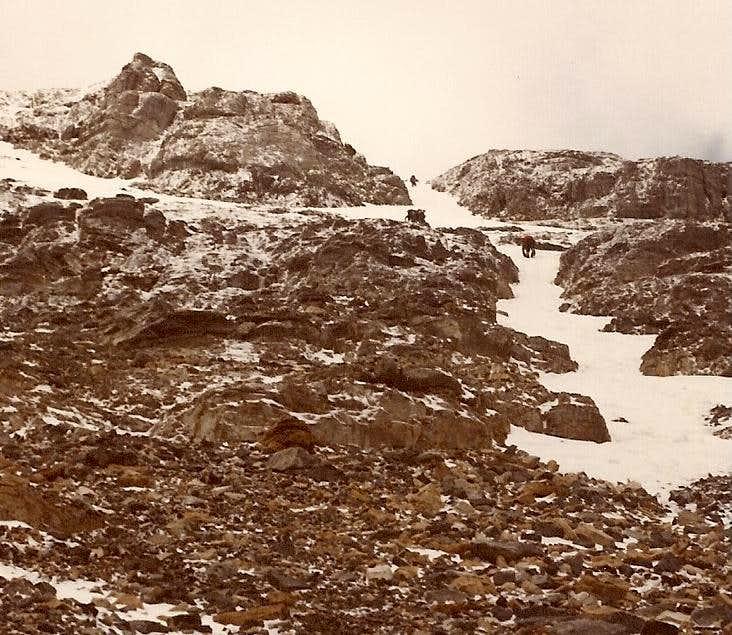 Temple - descending snow gullies