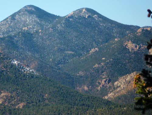 Mount Garfield (L) and Mount Arthur (R)