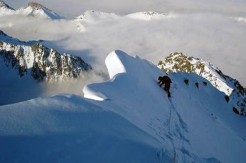 Travers on the top of Kezmarsky stit (2556m)