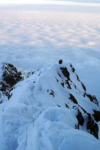Descent from Kezmarsky stit via the ridge