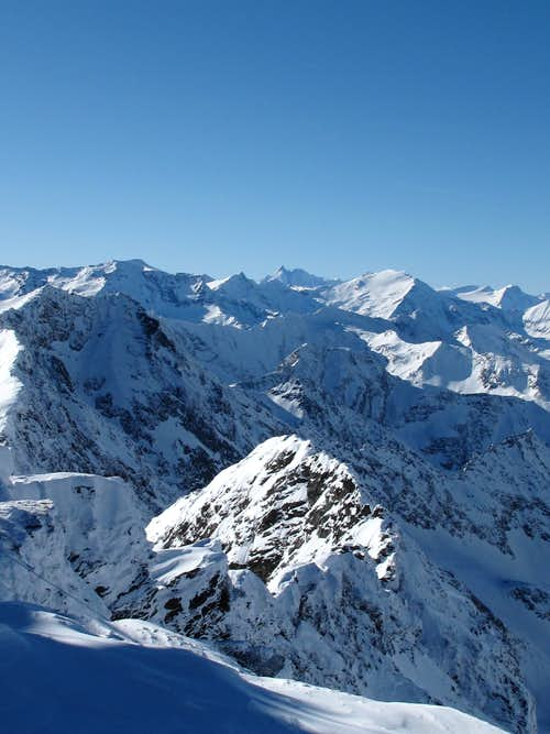 View to the Glockner group from the Hannover hut