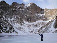 Longs Peak In the Winter Morning