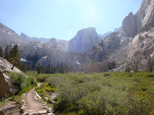 Meadow on the way up the Whitney Trail