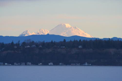 Sunrise from Mukilteo-Clinton ferry