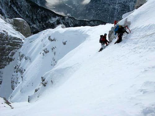 Traversing on Grebenec ridge