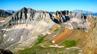 From the Saddle of Mt Sneffels