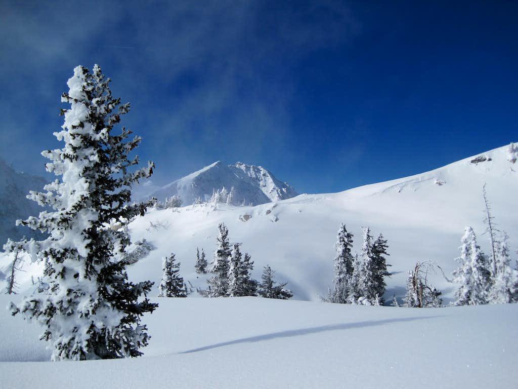 Lone Peak in early February of 2010