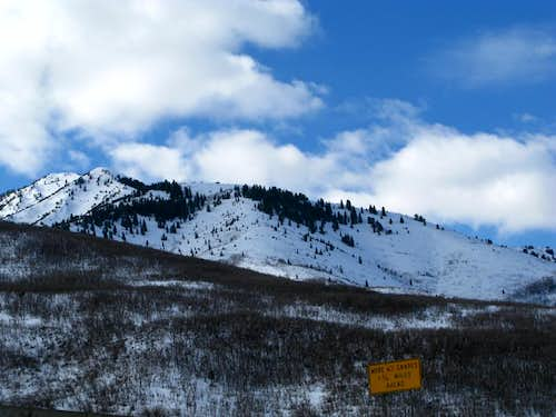 Avalanche on Mt Aire