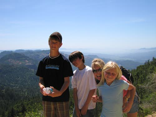 Mtn. St. Helena (2007), from R to L, my daughter, sis-in-law, son & nephew