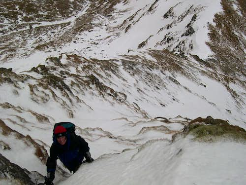 On the East Ridge of Ben Lui
