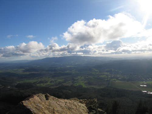 From Gunsite Rock looking south, Sonoma Valley below