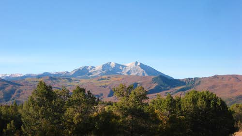 Autumn Mt Sopris from Missouri Heights