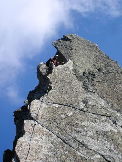 Crux pitch on Salbit S-Ridge