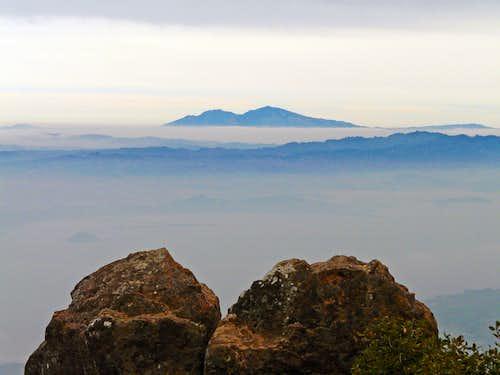 Mt. Diablo, 3,849' from Mt. Tamalpais