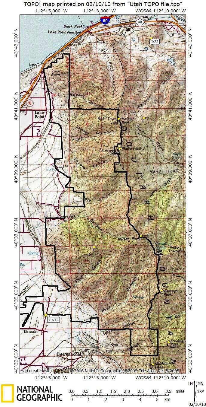 North Oquirrh BLM Lands