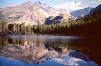 Longs Peak Reflecting in Bear Lake