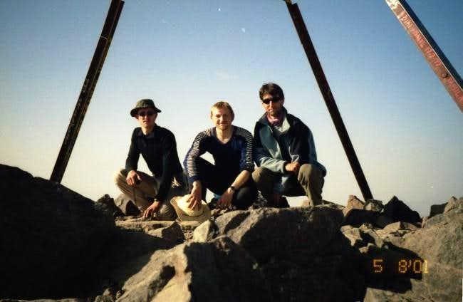 Ole, Bo, and Jes on summit