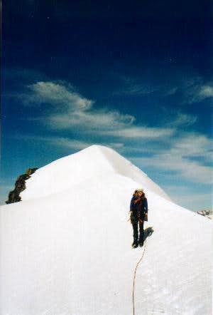 Anja on Rogers Peak. 10. July...