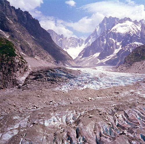 View on to the Mer du Glace...